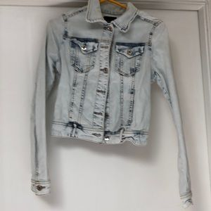 Acid wash jean jacket.
